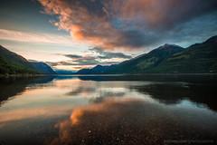 Sunset @ Kootenay Lake (Bjoern Schmitt) Tags: sunset canada kootenay lake water mountains clouds