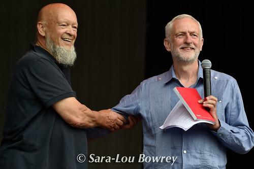 Jeremy Corbyn & Michael Eavis