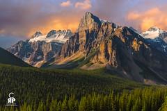 Tower of Bable Sunrise (Chris Ross Photography) Tags: d700 nikon canada banff rockies alberta sunrise mountain light cloud trees pine granite rocky moraine glacier snow