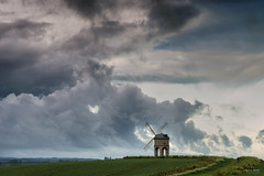 Chesterton Windmill - Wet & Windy (Geoff Moore UK) Tags: windmill wet windy cold rain sleet sky clouds architecture landscape outdoors hill exsposed path walking trailhike