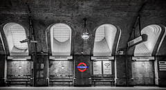 Baker Street image with colour splash. (Captain Dibbles Pace Stick) Tags: style classic red night art city bw old blackandwhite mono splash colour tube bakerstreet london underground uk travel metro sign flare light white architecture pop
