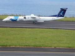 Bombardier Dash 8 approaching Horta 170616_027 (jimcnb) Tags: 2017 juni urlaub azoren azores açores faial horta airport castelobranco bombardier dash 8 cstrf sata