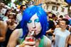 Pride '17 Rome (Guido Caltabiano www.guidocaltabiano.com) Tags: streetphotography street portraits people sigarette blue fotografiadistrada flash flashphotography roma rome stphotographia