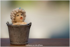relax take a bath (HP029917) (Hetwie) Tags: bath relax bathing baby macro macromondays bucket emmer beeldje bad kindje child inbad
