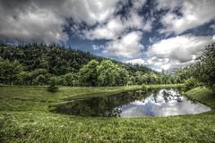 Auvergne Landscape (sebastienloppin) Tags: canoneos60d canon paysage france nature mountain luminance hdr green reflection reflect auvergne landscape
