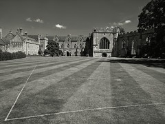 Angles (ancientlives) Tags: wells somerset england uk europe cathedral bishop palace bishopspalace lawn grass architecture building summer july 2017 thursday walking travel southwest mono monochrome blackandwhite bw christian church anglican