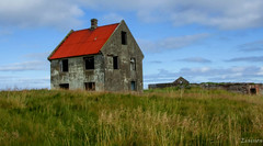 Abandoned house explored (einisson) Tags: house abandoned grass sky iceland outdoor red einisson