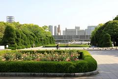Peace Memorial Park view towards Hiroshima Peace Memorial Museum (Sharaz Jek) Tags: 広島市 hiroshima japan travel travelphotography canoneos550d peacememorialpark hiroshimapeacememorialmuseum abomb atomicbomb