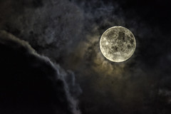 The Moon Climbs a Mountain of Clouds (Frank C. Grace (Trig Photography)) Tags: moon nikon d810 tamron 150600mm g2 acushnet massachusetts newengland clouds sky night nightphotography hdr highdynamicrange frankcgrace trigphotography ominous dark creepy weather