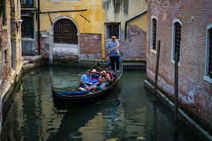 Pushing people around (Jim Nix / Nomadic Pursuits) Tags: 2470mm europe italy jimnix lightroom macphun nomadicpursuits sony sonya7ii venezia venice canals culture gondola gondolaride gondolier italian streetscene thingstodo tourists travel