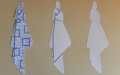 Three things to remember (Landanna) Tags: paperart paperwork embroidery embroideryonpaper broderi broderipåpapir borduren bordurenoppapier knoopinjezakdoek