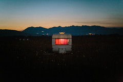 Something's cooking (Miras Sljivancanin) Tags: trailer camping camplife redlight moody dusk night mountains beach montenegro velikaplaza ulcinj colors sky