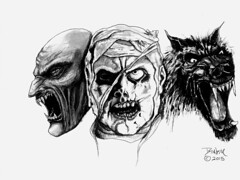 Classic Monsters (brianbraham) Tags: monster monsters mummy wolf vampire dracula werewolf