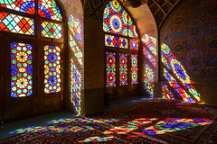 Nasir al-Mulk Mosque (Paolo Cinque / www.paolocinque.it) Tags: light colors morning travel traveller traveler traveling travelling visit visiting sight sightseeing tour tourist tourism trip journey world worldwide beautiful perfect masterpiece stunning awesome fantastic nice cool terrific wonderful photo photography photographer flickr image shot nikon nikkor camera reflex d7100 persia middleeast persian nasiralmulk mosque islam allah god religion shiraz iranian iran