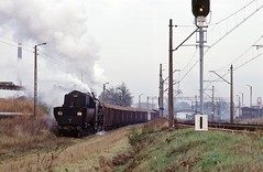 Loco Ty3-2  |  Koscian Sugar Factory, Wielkopolska  |  1997 (keithwilde152) Tags: ty32 koscian wielkopolska poland 1997 sugar factory industry tracks yard beet wagon train steam locomotives outdoor autumn
