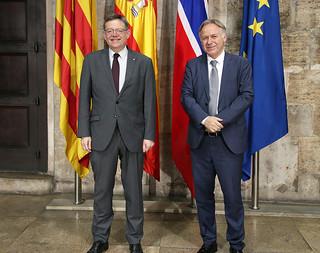 El President de la Generalitat, Ximo Puig, ha recibido en audiencia al embajador de Noruega en España. 23/06/2017