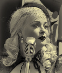 Lili Marlene. (Adrian Walker.) Tags: elements gcr wartime 1940s lilimarlene people girl singer bw libertypink marlene dietrich rothley canon80d tamron18270 vintage canon