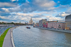 Moscow river (iliya.hazan) Tags: moscow river stalinist skyscrapers russia travel road city