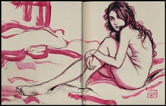 Collector's Edition Drawing on the first page of my book.... (Dorian Vallejo) Tags: art fine drawing figure mixed media drawings oil painting dorian vallejo