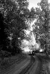 96180024 (sabpost) Tags: retro vintage scan film bw ussr ссср пленка сканирование скан негатив россия ретро old rare scans russia russian found photo siberia сибирь soviet лес road forest motorcycle motorbike