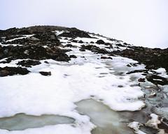 Icy Mountain (danielfoster437) Tags: snowymountain wwwmeinfilmlabde winter winterweather mediumformat icymountain snowcoveredmountain icy arcticcircle snow meinfilmlab spitsbergen arctic mamiya7 mountain svalbard analog ice