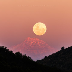 Aconcagua and supermoon (andelpaulmann) Tags: mountain andes chile cordillera moon supermoon sunset moonrise moment