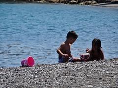 Friends. (Ia Löfquist) Tags: crete kreta beach strand sea hav child barn swim bada play leka leker summer sommar ierapetra