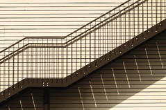 Horizontal, vertical & diagonal (JossieK) Tags: metal railing stairs fireescape treppe feuertreppe wall lines building