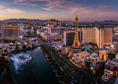 Las Vegas sunset (photoserge.com) Tags: las vegas view sky sunset architecture travel water cityscape