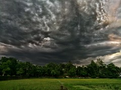 Cloudy sky. (Ifti Akhand) Tags: sky dark darkness clouds cloudy landscape green colorvibe beaty beautyofnature beautyqueen nature