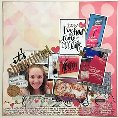 It's Showtime! (girl231t) Tags: 2017 paper scrapbook layout 12x12layout