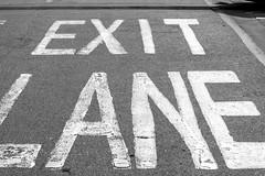 Escape Route 4 (margaretsdad) Tags: barron d7100 edinburgh midlothian scotland scott scottbarron uk stairs staircase stair shadows railings paintedsign paint ominous light exitsign depressing dark confusion carpark blackandwhite blackwhite black bw escape escaperoute getout exit