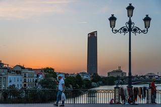coucher de soleil sur Séville