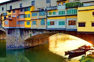 Under Ponte Vecchio Bridge, Florence