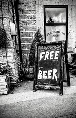Double take (DavidSteele31) Tags: free wifi great beer pub sheffield yorkshire millhousegreen blacksmithsarms signs sign chalkboard
