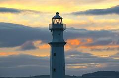 Evening Lighthouse (Edinburgh Photography) Tags: landscape outdoors lighthouse sunset newhaven harbour nikon d7000