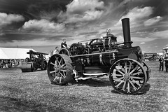 To the glory of the Machine! (PentlandPirate of the North) Tags: cheshiresteamrally daresbury tractionengine bigwheel vintage tractionengines runcorn england fairground outdoorshows