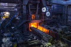 Mouth of the Scarlet Flame (Sandronn) Tags: burn equipment factory fire flame flow foundry furnace glowing heat heavy hot industrial industry iron ironworks liquid manufacture manufacturing melting metal metallic metallurgical metallurgy mill molten plant production slag smelting steel steelworks technology work workshop