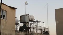 Water tanks, evening, Famagusta
