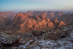 Mt Sinai (robertdownie) Tags: sky landscape red sunset nature travel rock snow mountain valley desert panoramic canyon outdoors horizontal moses granite scenic geology mount horeb gabal musa no person egypt sinai peninsula exodus commandments