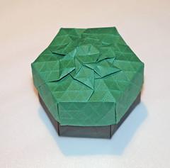 Rhombus twist tessellation box (mganans) Tags: origami tessellation box