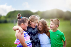 (Rebecca812) Tags: friendship happiness childhood laughter candid togetherness family sisters cousins friends brother outdoors countryside greengrass bluesky idyllic love sweet child nostagia portrait people fun playful rebecca812 girl boy canon