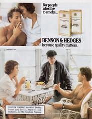 Benson & Hedges 1987 (barbiescanner) Tags: vintage retro fashion vintagefashion vintageads 80s 1980s 80sfashion 1980sfashion cigarettes bensonandhedges yuppies 80sculture
