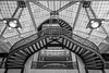 Rookery (Fret Spider) Tags: rookery chicago downtown city architecture financialdistrict loop mono monochrome canonef24mmf14liiusm prime blacknwhite blackwhite bw toned symmetry landmark historic franklinlloydwright flw art balance ceiling building indoors