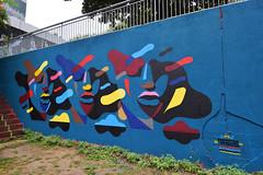 Taroe (HBA_JIJO) Tags: streetart urban graffiti paris art france artist hbajijo wall mur color painting peinture portrait blue bleu urbaine culture forme lesgrandsvoisins colors