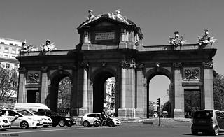 Madrid en blanco y negro.