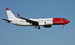 Norwegian Air International EI-FYA,  OSL ENGM Gardermoen 30.06.17 (Inger Bjørndal Foss) Tags: eifya norwegian nai boeing 737 max8 osl engm gardermoen