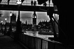 From under a Bridge (Clive Varley) Tags: london bw nikcolorefexpro nikond90 gimp2814partha