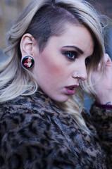 courtney in london (clodaghennis) Tags: fahsion camden london market tattoos eye blonde fur