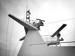 Ship to shore (JulieK (thanks for 5 million views)) Tags: stennaeurope ship ferry radar htt communication bw blackandwhite monochrome lowpov iphone5 telegraphtuesday